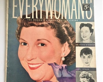 1954 Everywoman's Magazine Mamie Eisenhower Feature  'Woman's Guide to Better Living'