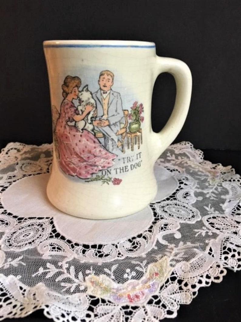 Vintage Courting Couple Ceramic Mug