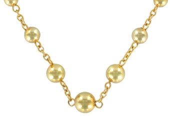 Collier perles d'or chaine Or jaune 18K Moderne  Classique