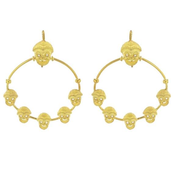 Etruscan spirit Vermeil Antique Etruscan earrings