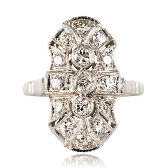 Art Deco-style diamond ring
