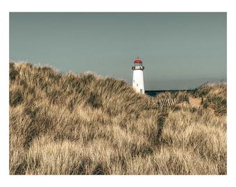 Lighthouse scandi image wall art landscape photography print Skandi beach gift idea photography taken in north Wales windswept beach welsh