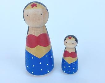 Wonder Woman Peg Doll -