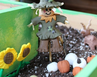 Miniature  Scarecrow ~ Polymer clay