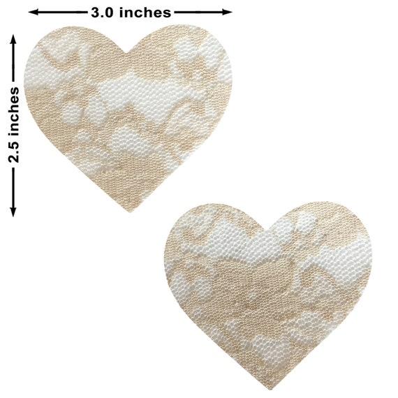 Neva Nude Lace Petal Nipztix Pasties Nipple Covers