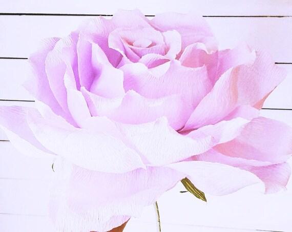 Riesen Lila Riese Papier Blume Riesen Krepp Papierblume Etsy