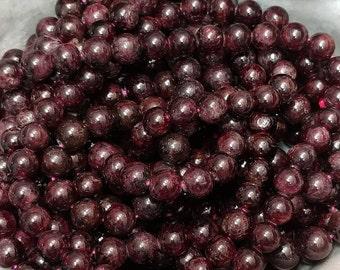 8.3mm 8mm Round Beads 15 Inch, Dumortierite Beads 203054006
