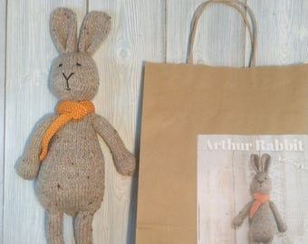 Arthur Rabbit breien Kit - Make Your Very Own konijn - gemakkelijk te breien patroon