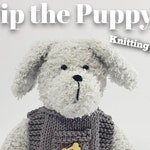 Toy knitting kit for Pip the puppy dog and his vest