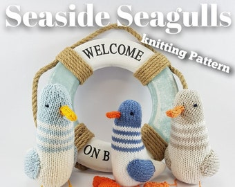 Seaside Seagulls Knitting Pattern - Make Your Very Own Seagulls - Easy To Knit Pattern