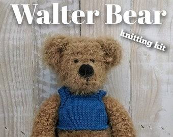 Walter Bear Knitting Kit - Make Your Very Own Bear - Easy To Knit Pattern
