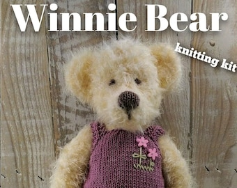 Winnie Bear Knitting Kit - Make Your Very Own Bear - Easy To Knit Pattern