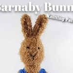 Knitted toy knitting pattern for Barnaby Bunny, PDF download