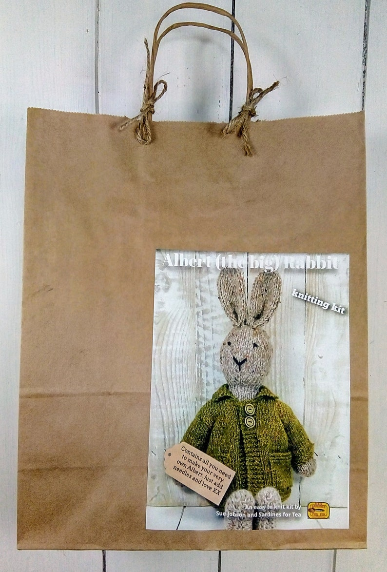 Albert the big Rabbit Knitting Kit  Make Your Very Own image 0