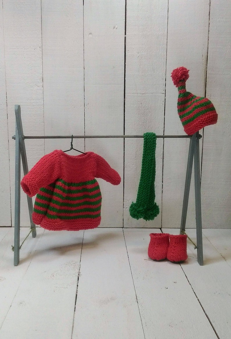 Knitted toy knitting pattern for Mary-Ann Sardine's Elf image 0