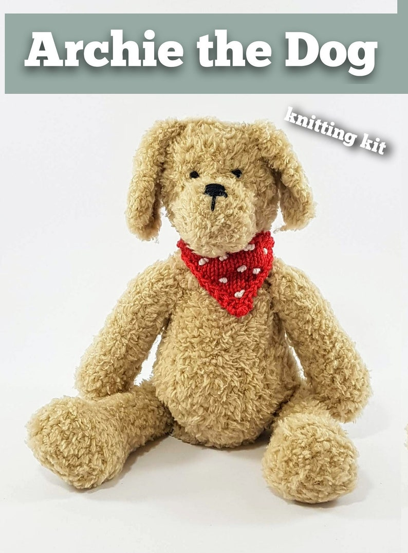 Archie the Dog Knitting Kit  Make Your Very Own dog  Easy To image 0