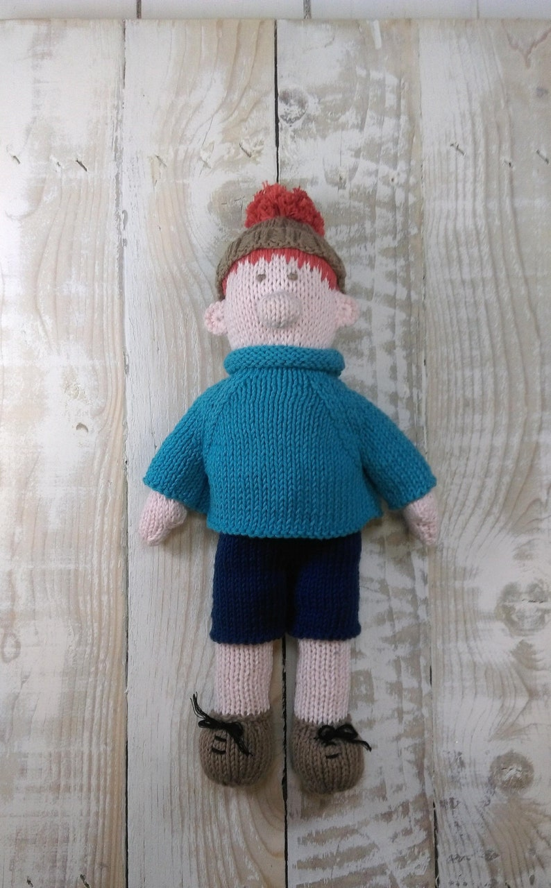 Knitted toy knitting pattern for Stan Sardine Starter pack image 0