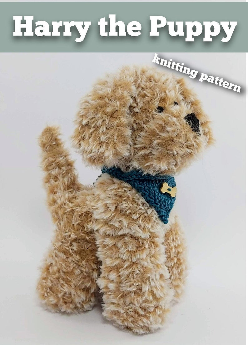 Harry the Puppy Knitting Pattern  Make Your Very Own Puppy image 0