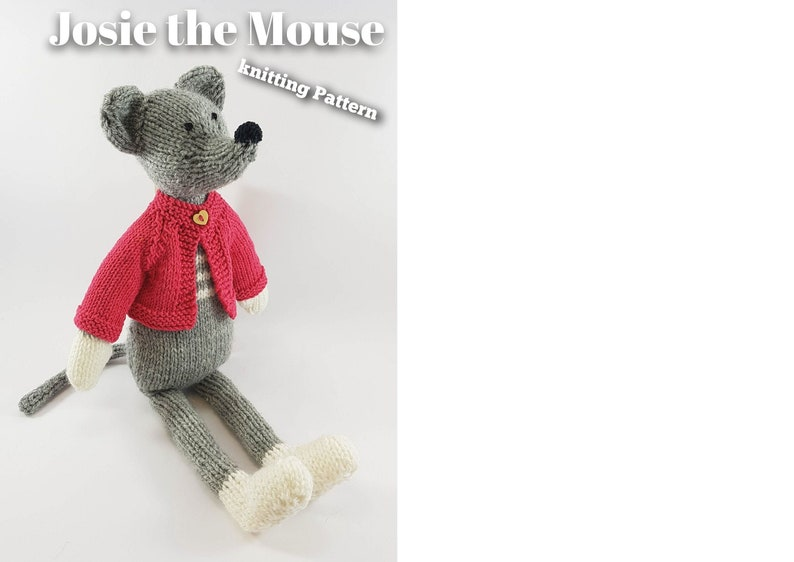 Knitting pattern for Josie the Mouse PDF download image 0