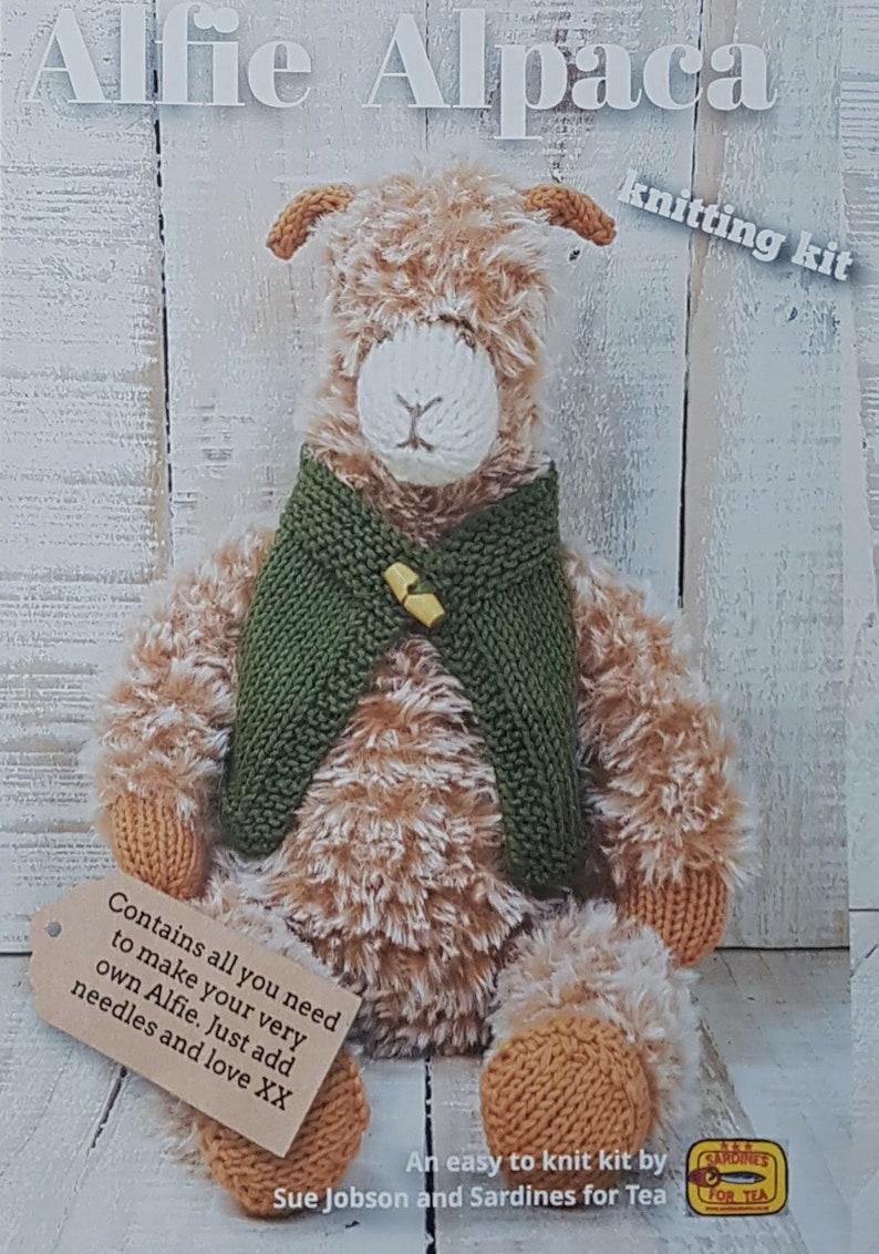 Alfie Alpaca Knitting Kit  Make Your Very Own Alpaca  Easy image 0