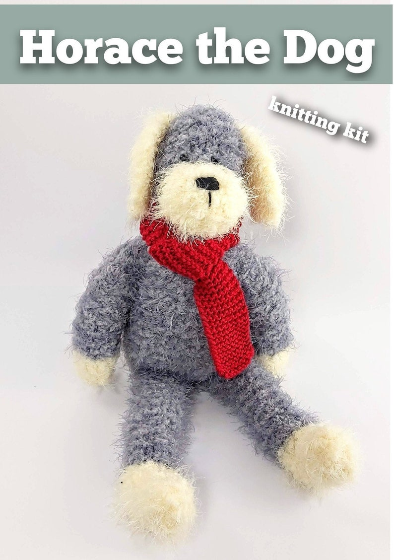 Knitting kit to make your very own Horace the Dog  easy to image 0
