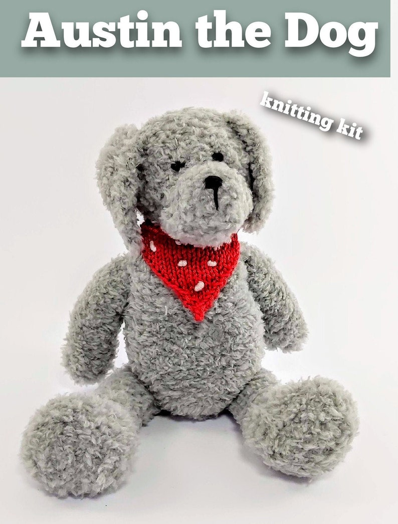 Austin the Dog Knitting Kit  Make Your Very Own Dog  Easy To image 0