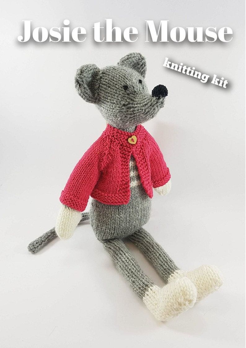 Knitting kit to make your very own Josie the Mouse  easy to image 0