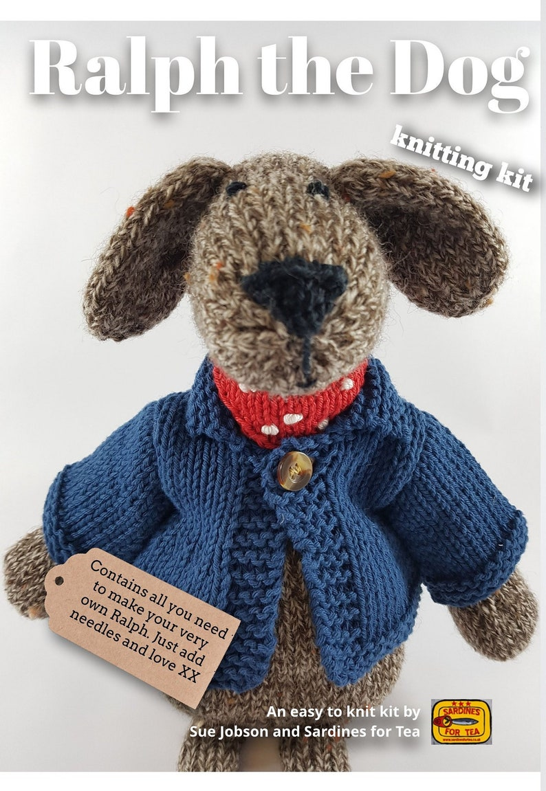 Ralph the Dog Knitting Kit  Make Your Very Own dog  Easy To image 0