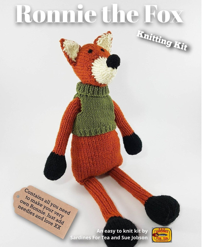 Ronnie the Fox Knitting Kit  Make Your Very Own Fox  Easy To image 0