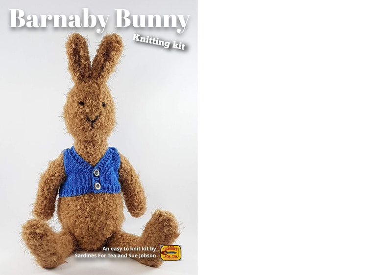 Barnaby Bunny Knitting Kit  Make Your Very Own Bunny  Easy image 0