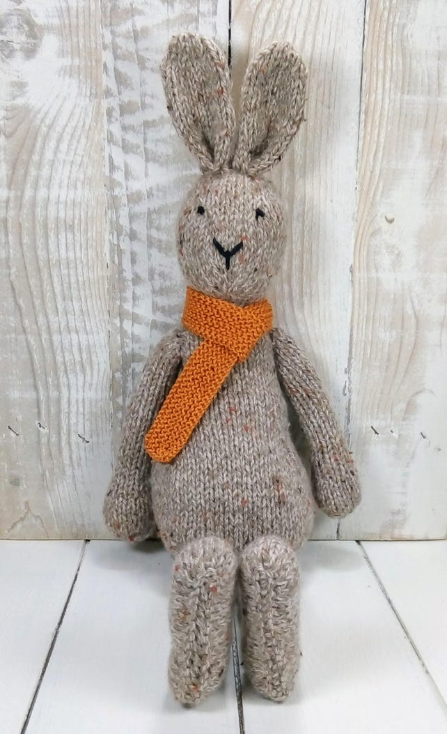 Knitted Toy Knitting Pattern For Albert The Big Rabbit Etsy