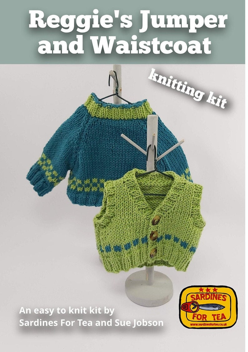Knitting Kit Reggie's Jumper and Waistcoat. Jumper image 0