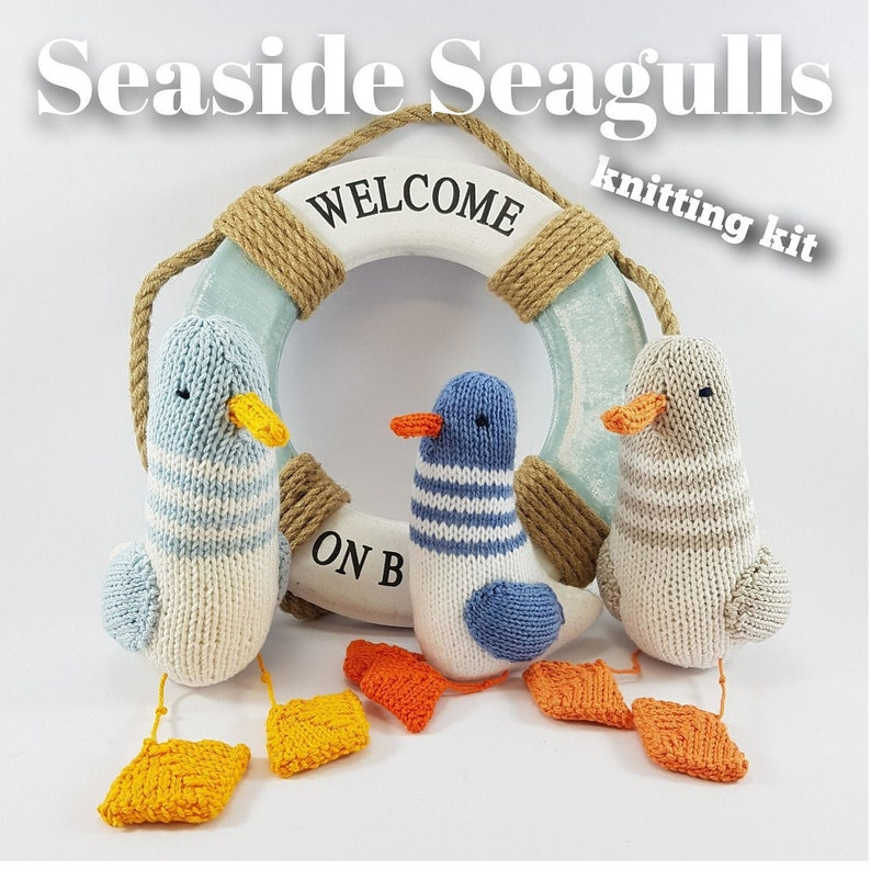 Knitting kit to make your very own Seaside Seagulls  easy to image 0
