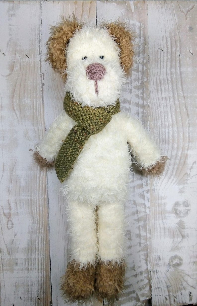 Knitted toy knitting pattern for Hector the Dog PDF download image 0