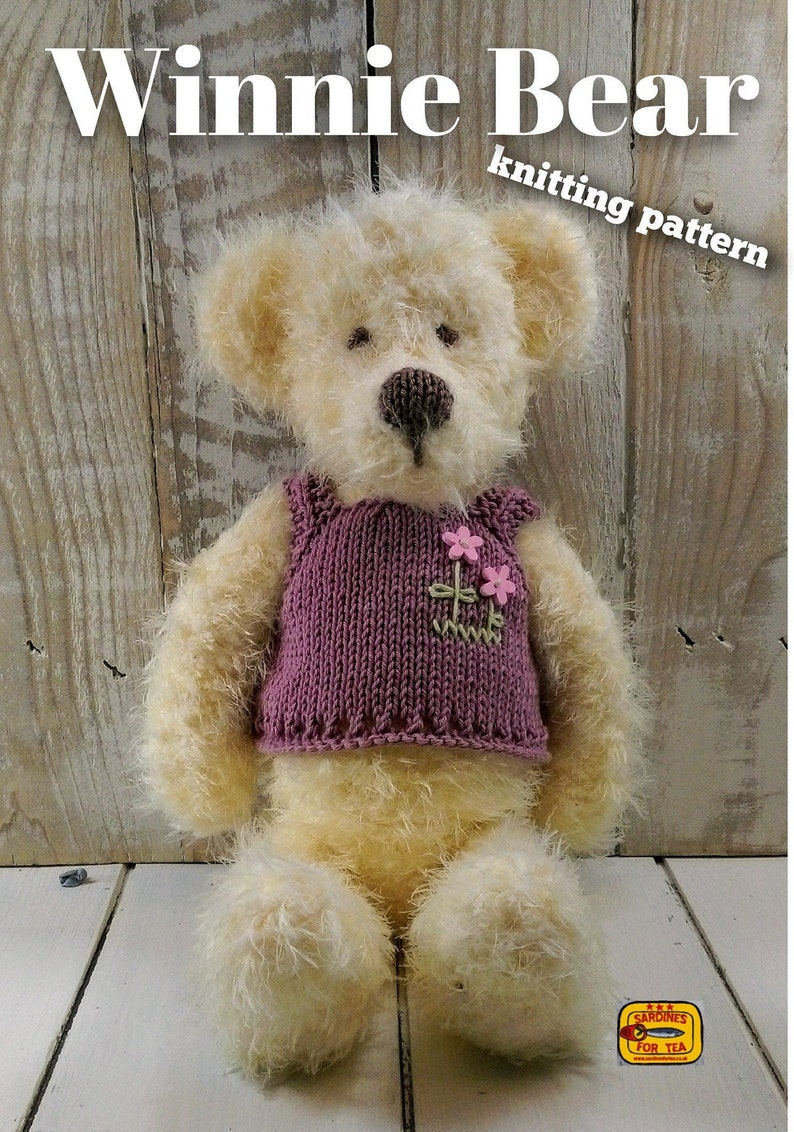 Knitted toy knitting pattern for Winnie Bear PDF download image 0