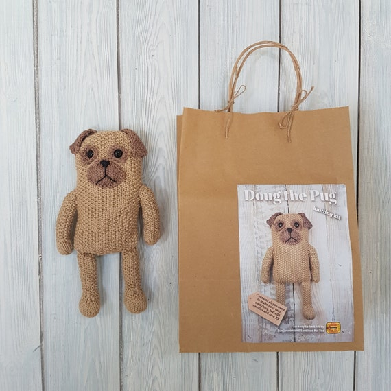 Doug the Pug Knitting Kit - Make Your Very Own Pug dog - Easy To ...