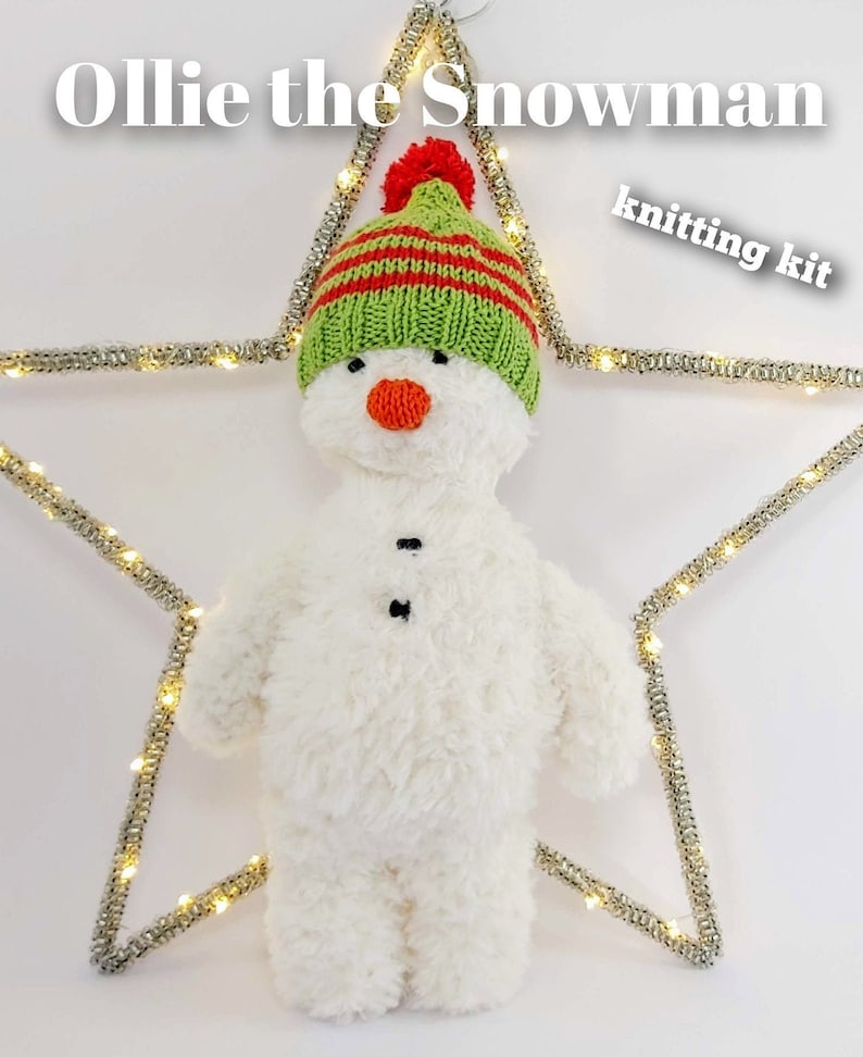 Ollie the Snowman Knitting Kit  Make Your Very Own Snowman image 0