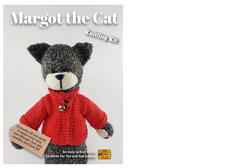 Margot the Cat Knitting Kit  Make Your Very Own Cat  Easy To image 0