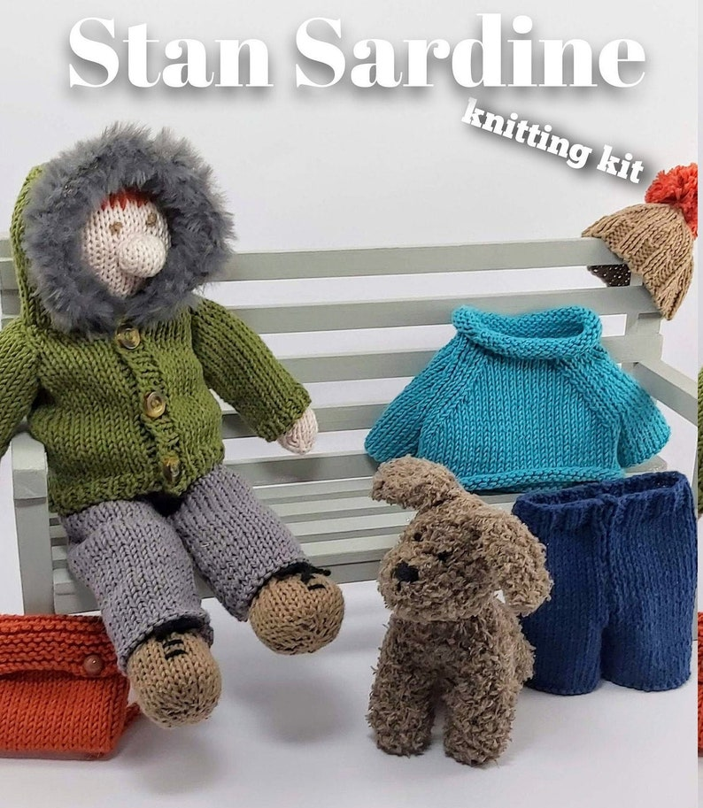 Knitting kit to make your very own Stan Sardine  easy to knit image 0