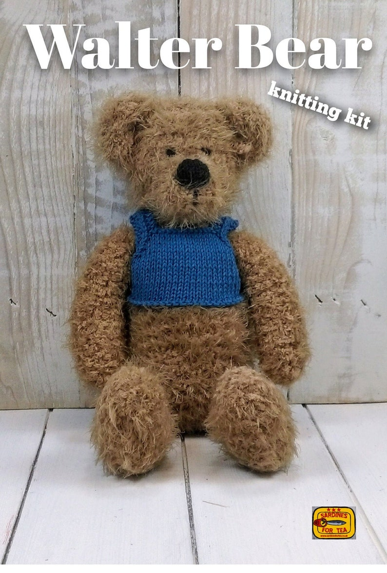 Walter Bear Knitting Kit  Make Your Very Own Bear  Easy To image 0