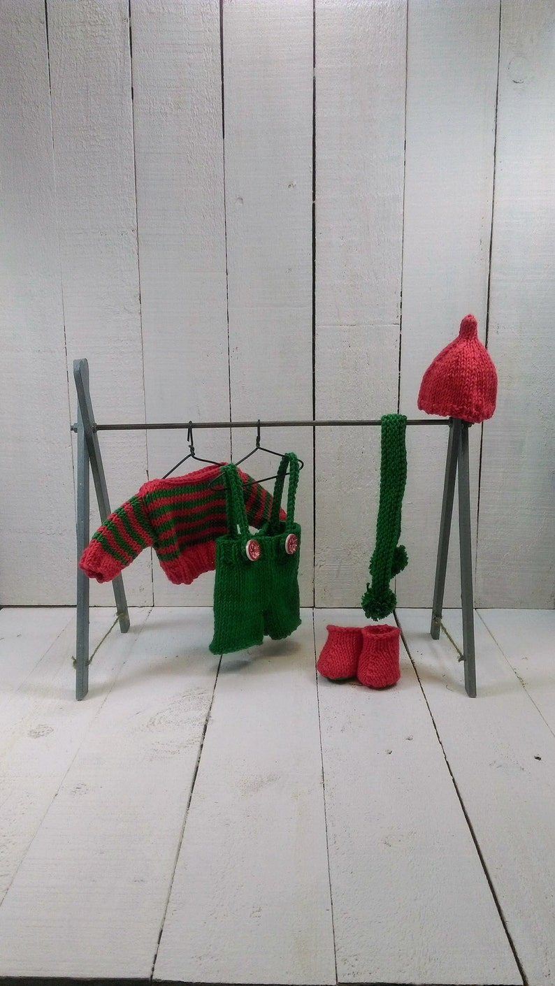 Knitted toy knitting pattern for Stan Sardine's Elf image 0