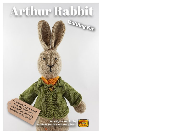 Arthur Rabbit Knitting Kit  Make Your Very Own bunny rabbit  image 0