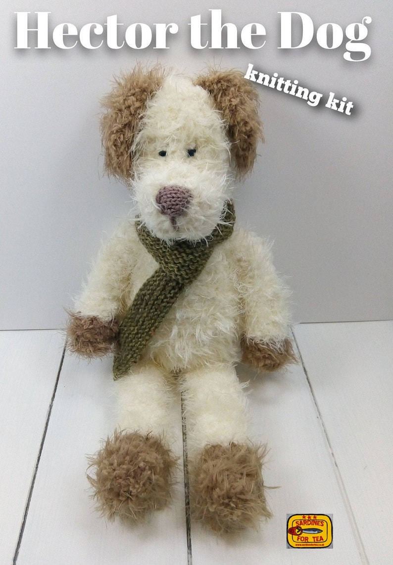 Hector the Dog Knitting Kit  Make Your Very Own Dog  Easy To image 0