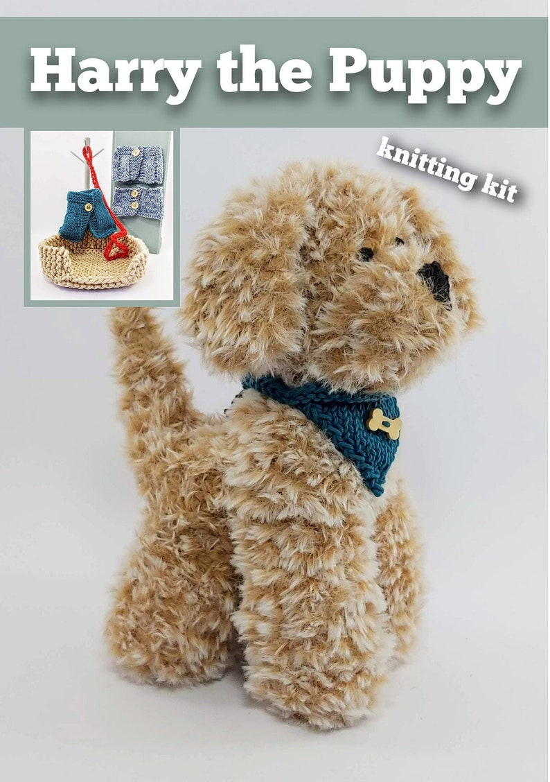 Harry the Puppy Knitting Kit  Make Your Very Own Puppy dog  image 0