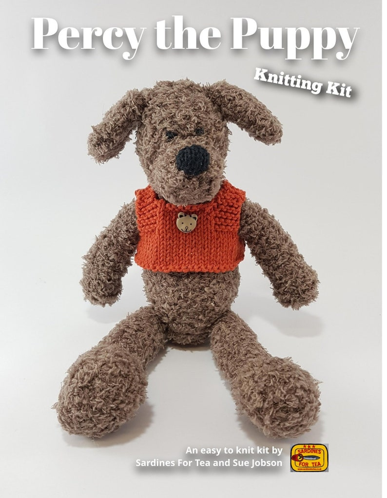 Percy the Puppy Knitting Kit  Make Your Very Own Puppy  Easy image 0