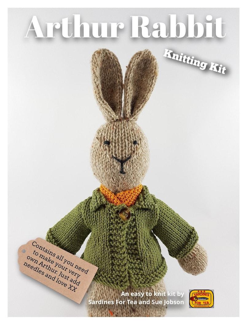 Arthur Rabbit Knitting Kit  Make Your Very Own bunny rabbit  image 0