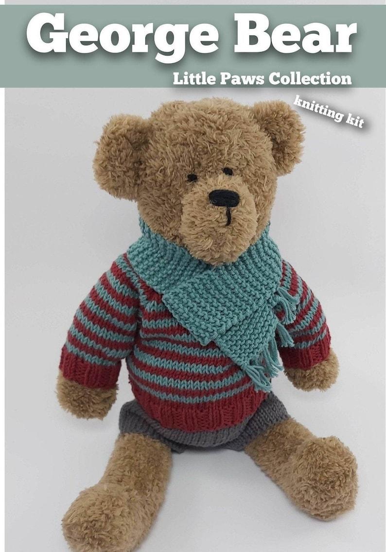 Knitting Kit George Bear. Teddy Bear knitting kit. Easy image 0