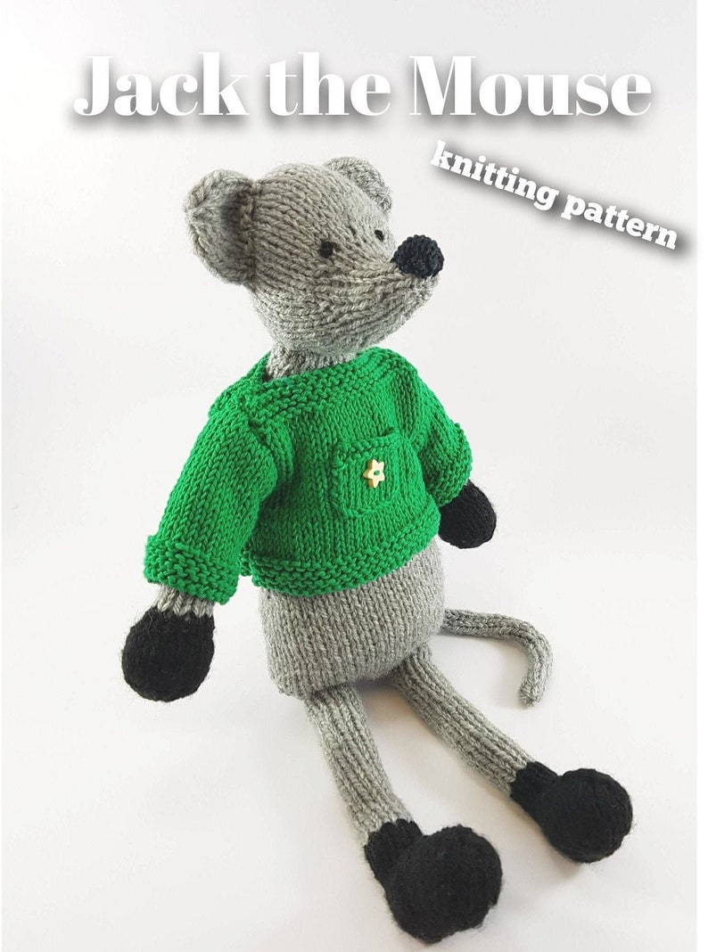 Knitting pattern for Jack the Mouse PDF download image 0