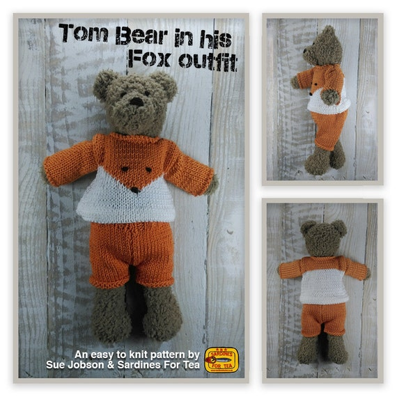 Tom Bear Knitting Pattern Make Your Very Own Teddy Bear Etsy