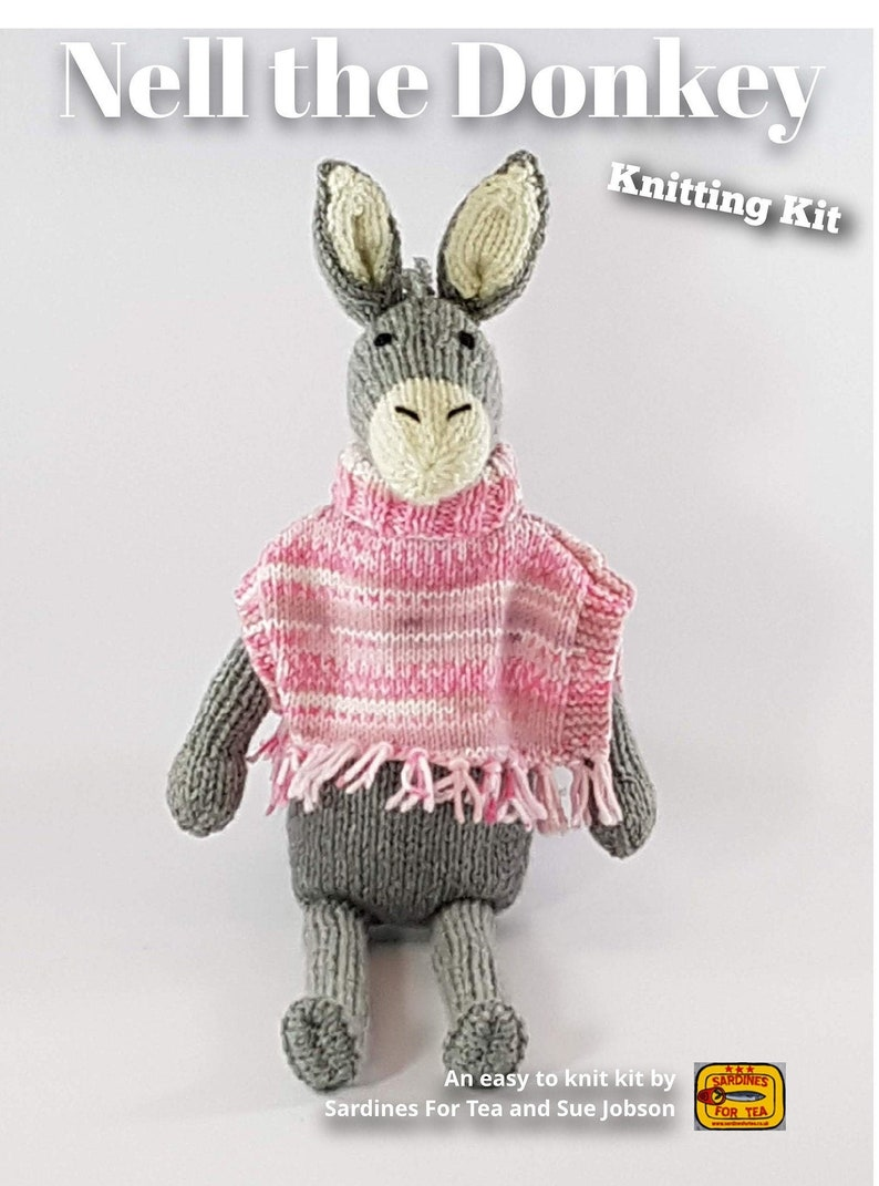 Knitting kit to make your very own Nell the Donkey  easy to image 0